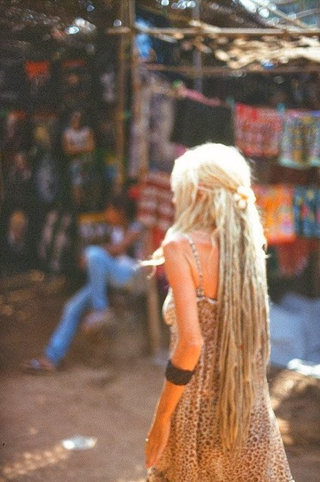 beatiful long hair rastafari girl