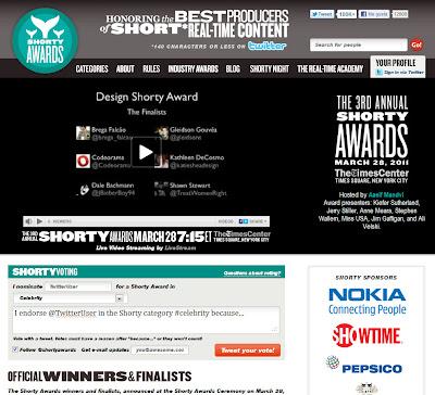 Premiando lo mejor de Twitter: Shorty Awards