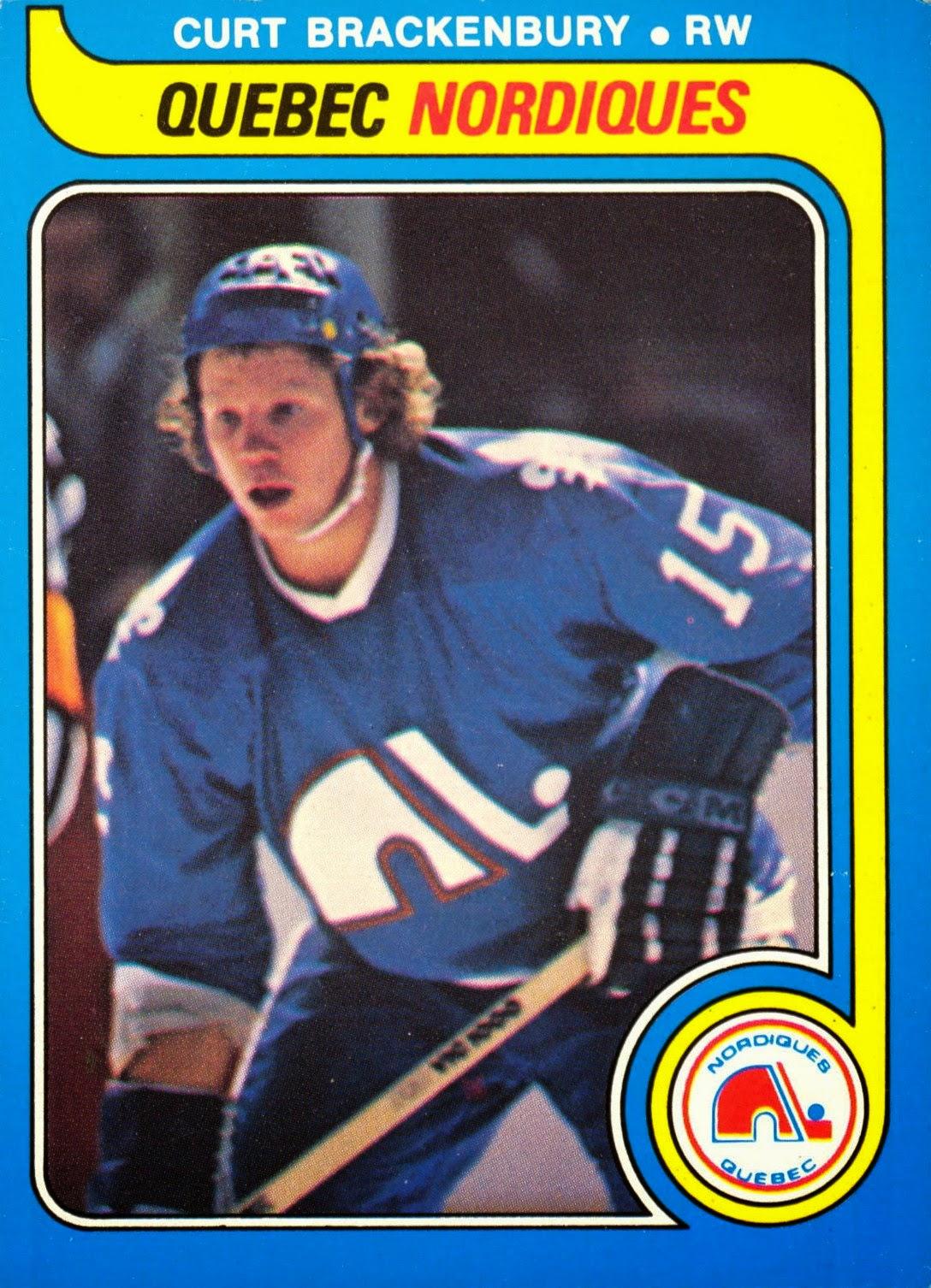 curt brackenbury 1979-80 o-pee-chee rookie hockey card quebec nordiques
