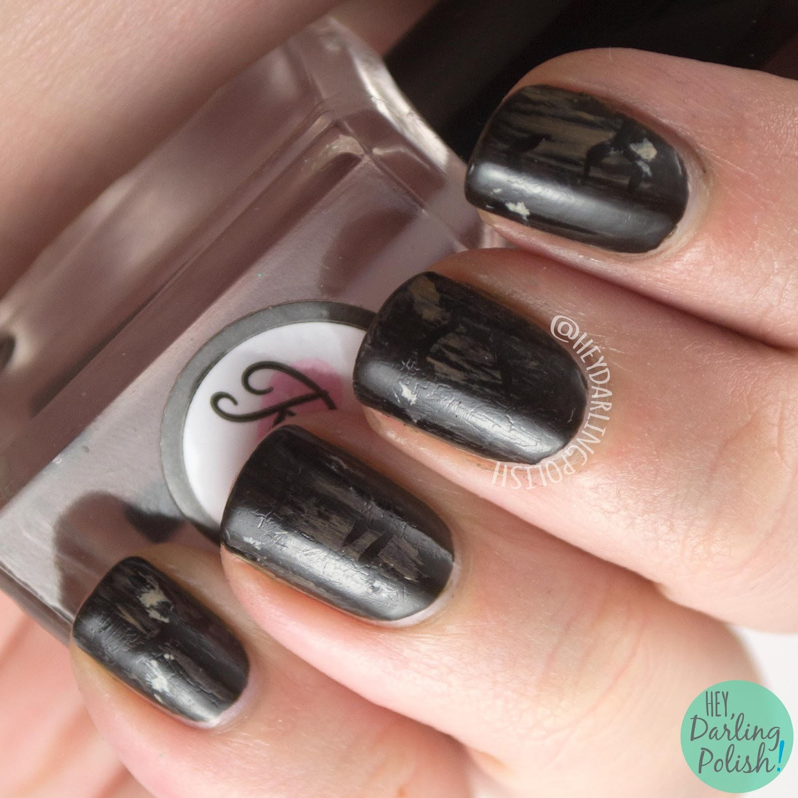 nails, nail art, nail polish, hey darling polish, the paper melody, brown, 52 week challenge,