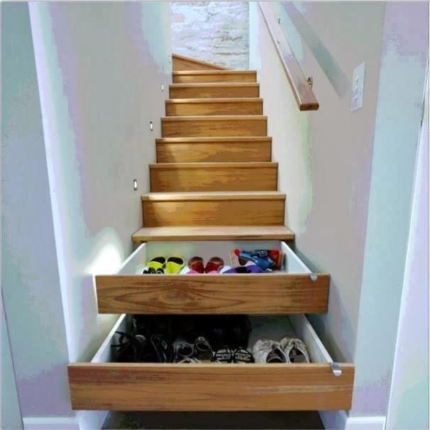 Deco Chambre Interieur: Idée De Stockage Dans L'Escalier