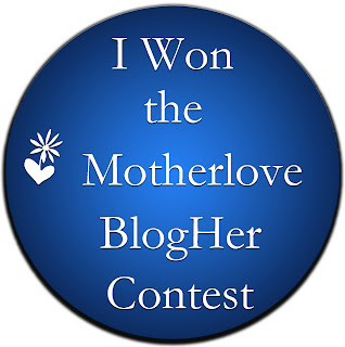I Won the Motherlove BlogHer Contest