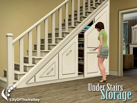 my sims 3 blog lilyofthevalley 39 s under stairs storage free. Black Bedroom Furniture Sets. Home Design Ideas