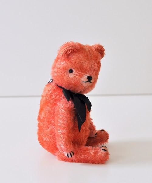mohair, heritage, hand dyed, bear,  handmade