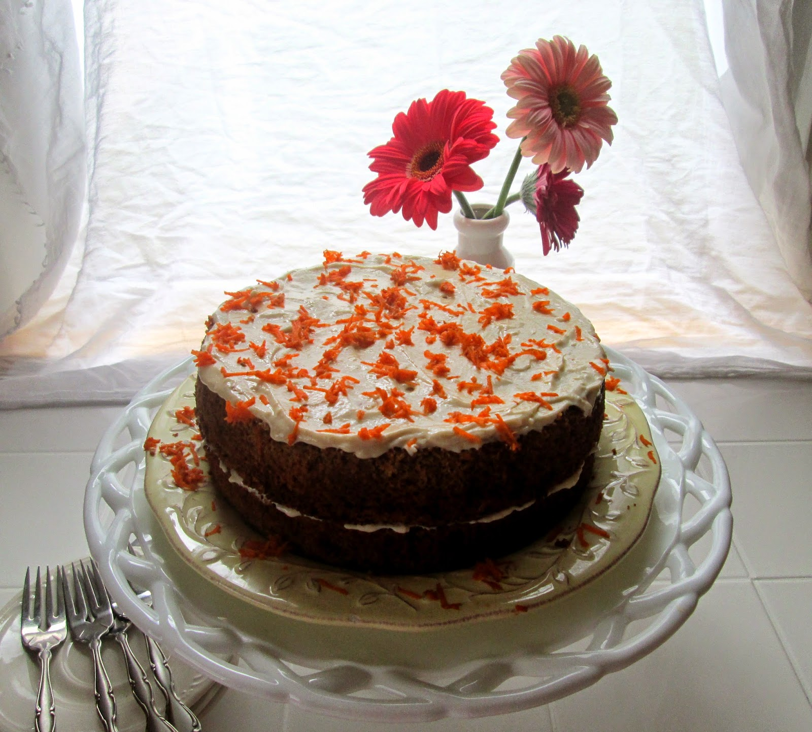 Hope For Healing: Gluten Free Carrot Cake without nuts and dairy