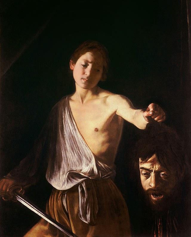 David con la testa di Golia - il Caravaggio