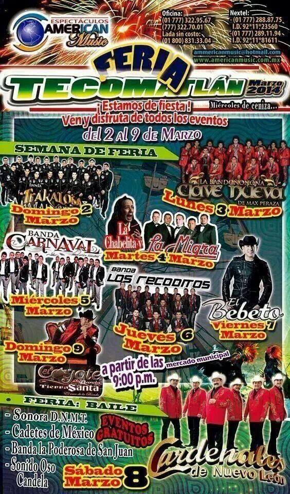 bailes de feria tecomatlán 2014
