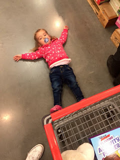 shopping with toddler at Costco