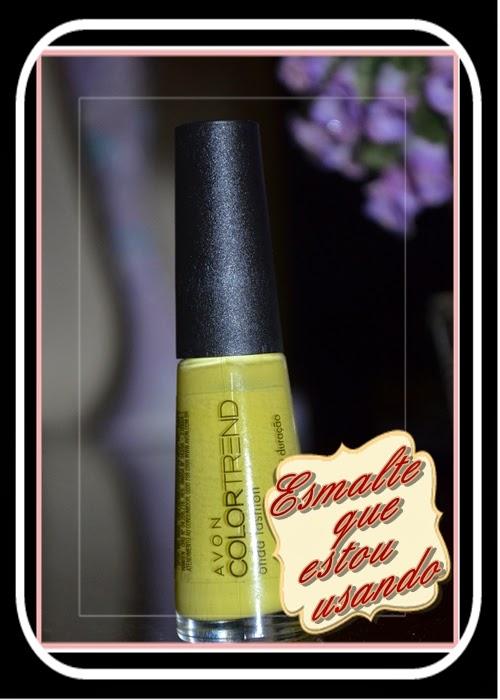 Somando Beleza,Esmalte, Amarelo, Avon ColorTrend, Linda Linda Cosméticos, Neiva Marins