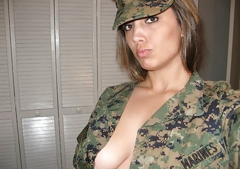 naughty us marines girl sexy self shot her tits