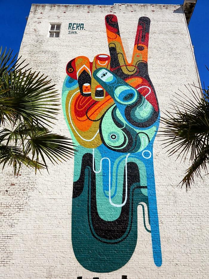 Reka peace man new mural san francisco usa for Australian mural