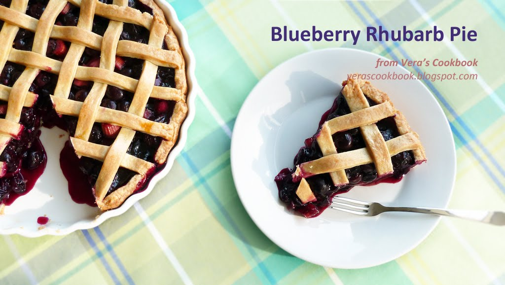 Blueberry Rhubarb Pie | Vera's Cookbook