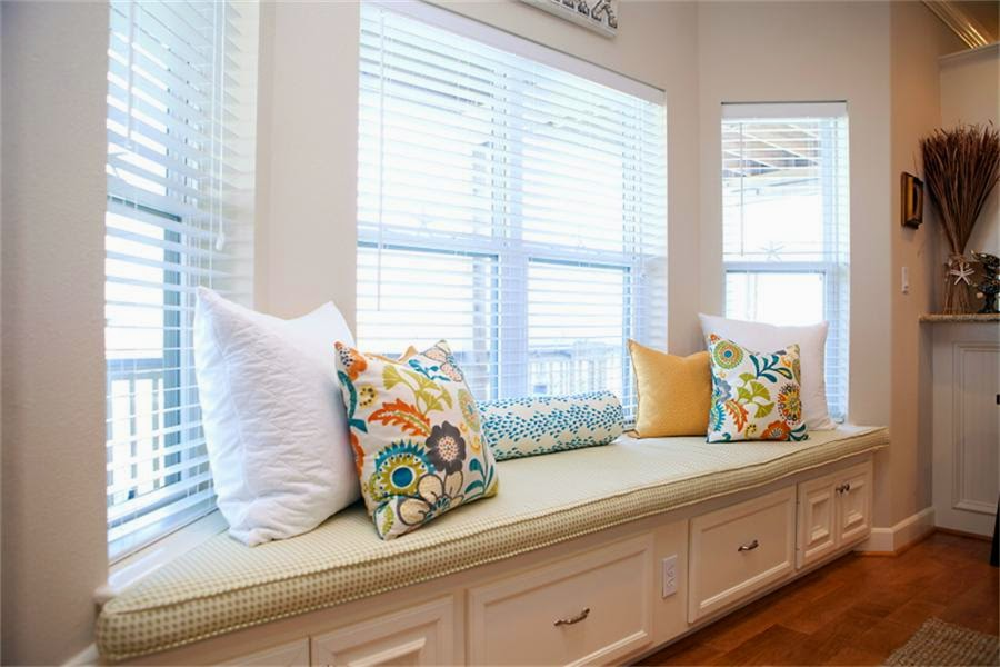 interior modern white bay windows seat idea