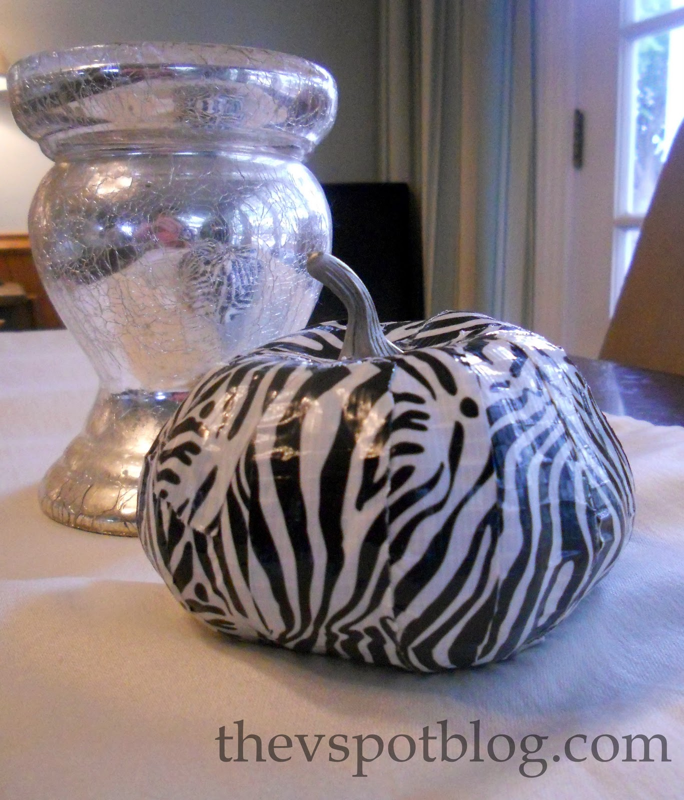 A Zebra Striped Pumpkin More Fun Pumpkin Crafts The V Spot - 22 insanely useful things can duct tape