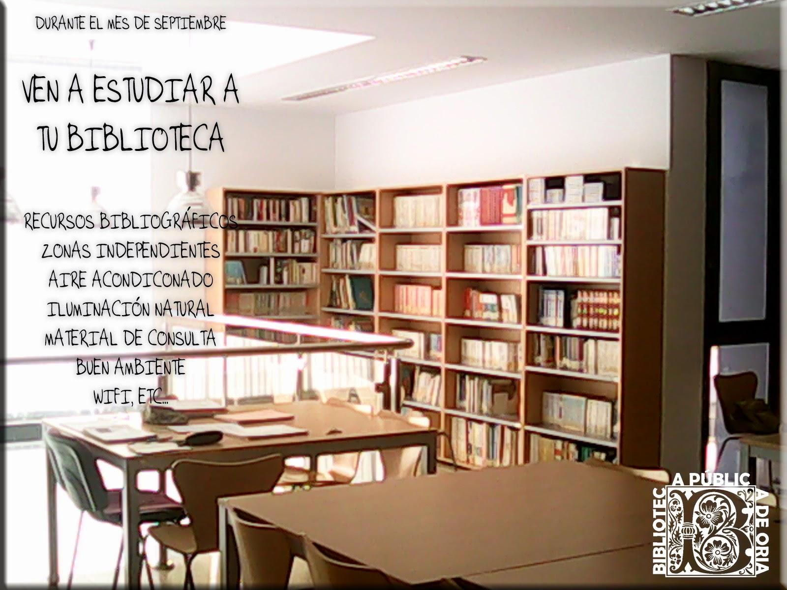 Ven a estudiar a la biblioteca