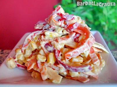 Salata de porumb si cruditati reteta