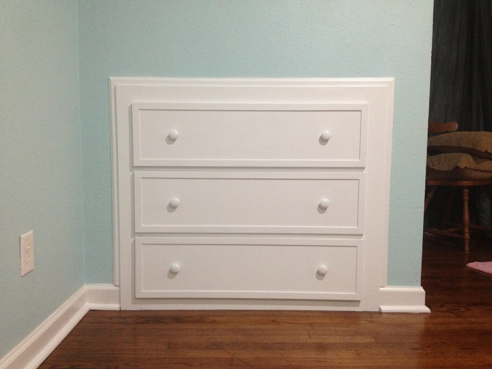 How To Build Dresser Into Wall