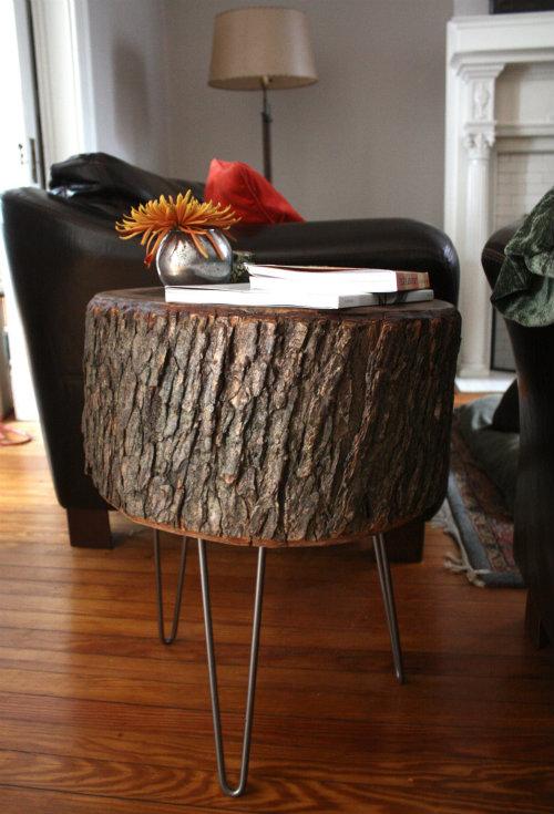 diy tree trunk table 2