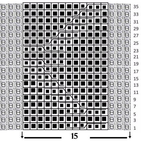 Схема узора ЖГУТЫ