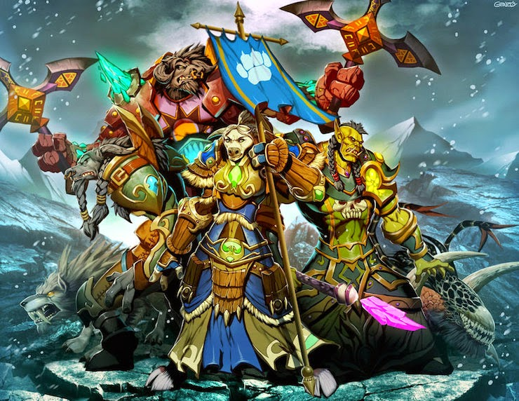 Fan Art de los personajes de World Of Warcraft