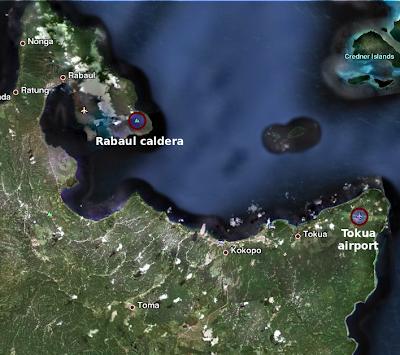 Volcán Tavurvur (caldera de Rabaul), Papúa Nueva Guinea