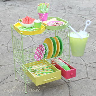 diy picnic cart for the deck or pation