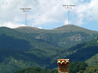 El Turó de l'Home i el Puig Sesolles des del Mas de Sant Climent