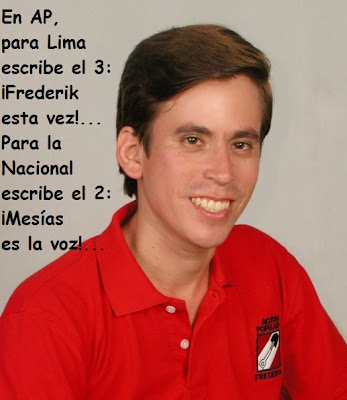 En AP, para Lima escribe el 3: ¡Frederik esta vez! Para la Nacional escribe el 2: ¡Mesías es la voz!