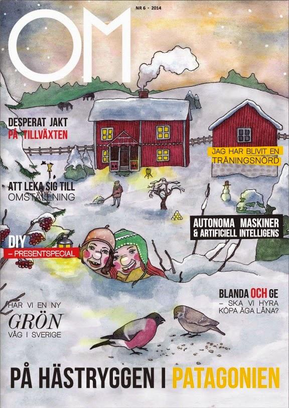 Tidningen Om Omställning, där Johan Landgren är redaktör och skriver artiklar