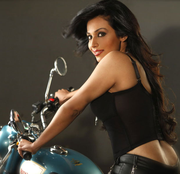 Asha Saini Hot Bike Pic1 - Asha Saini  Hot Bike Photo Shoot Pics