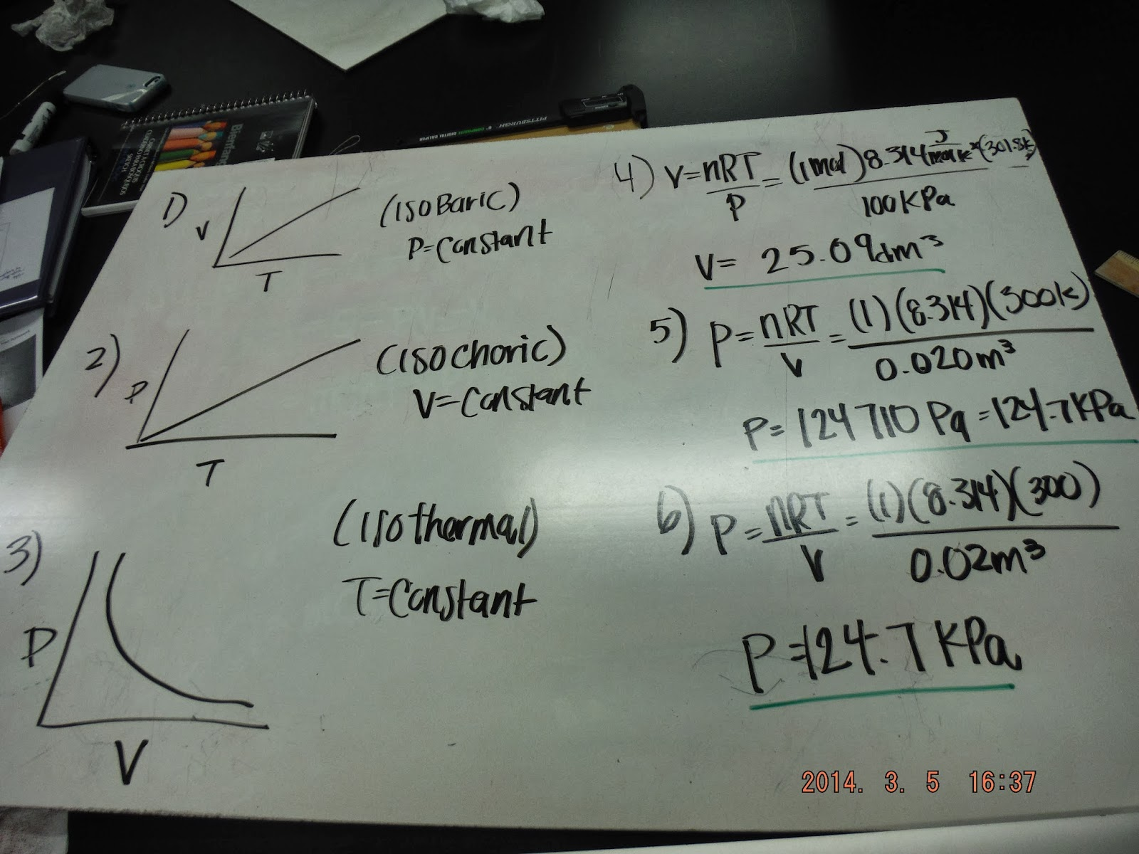 electronicsecampero  the following picture shows our calculations for the active physics assignment on thermodynamics