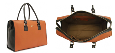 Keona tote bag Florian London tangerine black