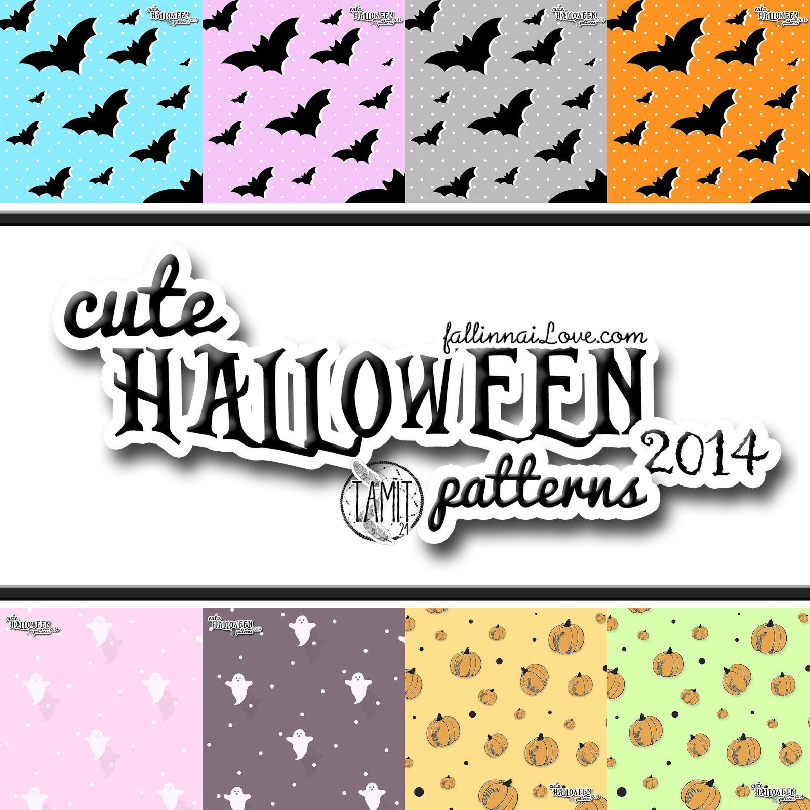 fall in ...naiLove!: Free CUTE HALLOWEEN PATTERNS.
