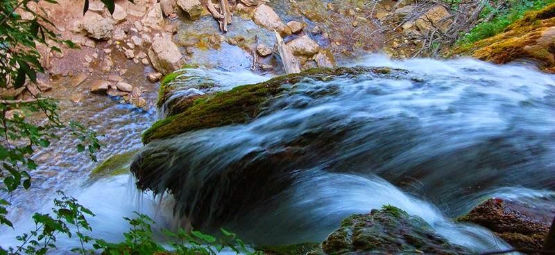 On top of the Dzhur Dzhur waterfall.