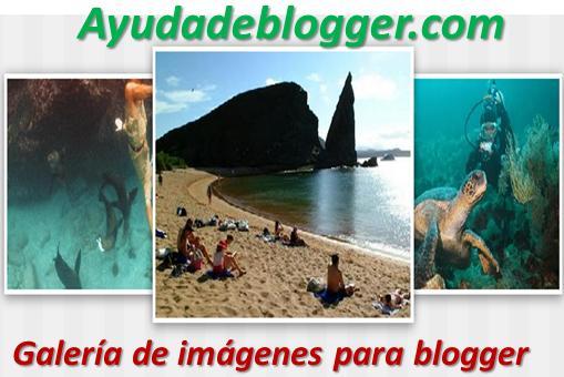 Galería de imágenes para blogger