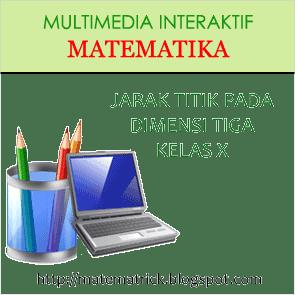 multimedia pembelajaran interaktif matematika bab jarak titik pada dimensi tiga