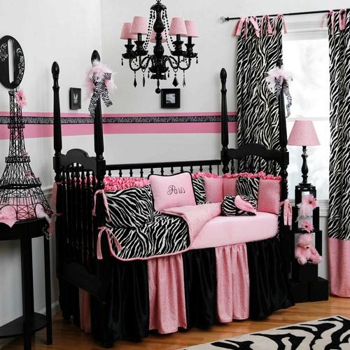 bedding 2012 model black and white zebra crib