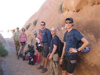 First Descents rock-climbing in Moab, Utah