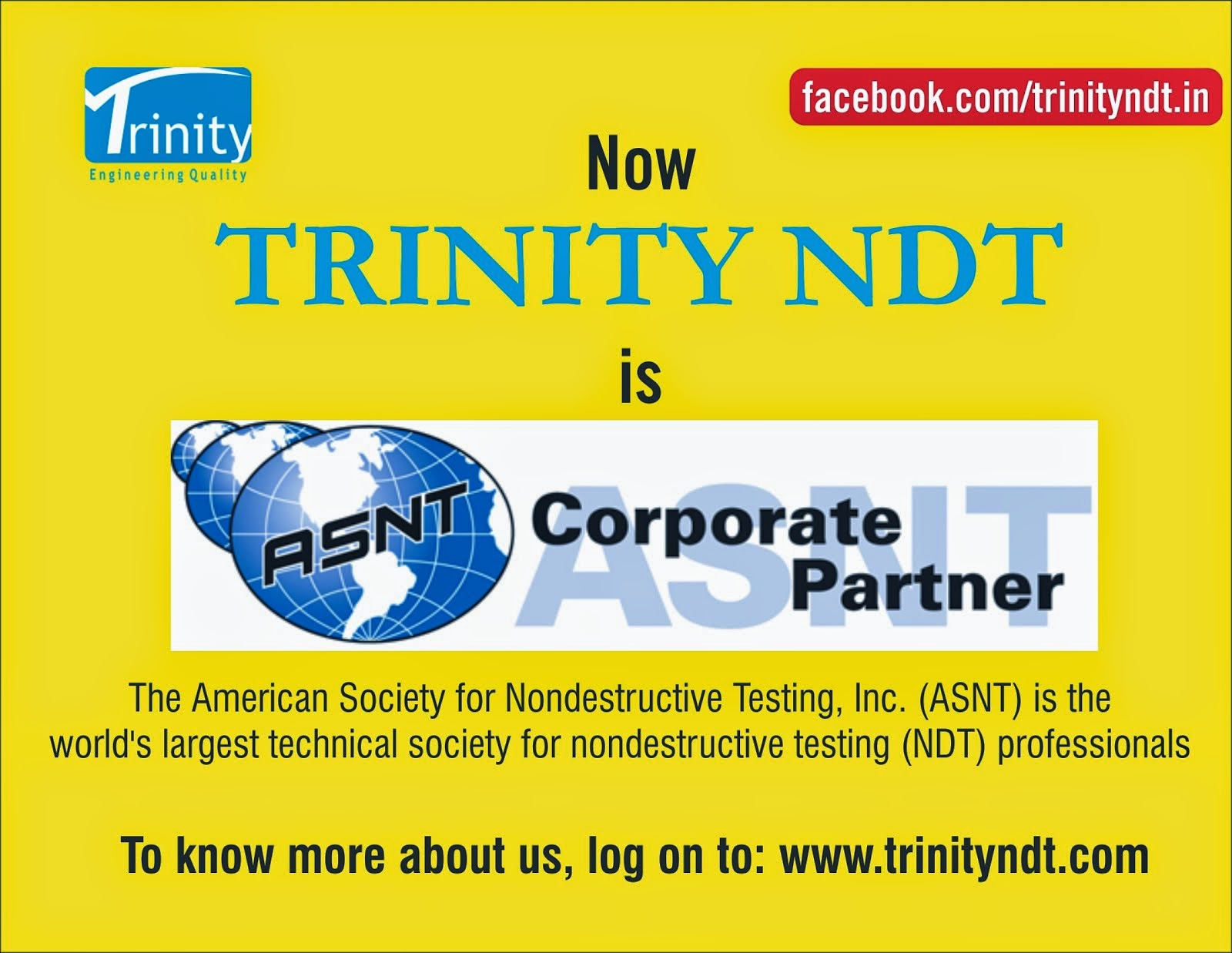 ASNT - The American Society for Nondestructive testing Corporate Partner