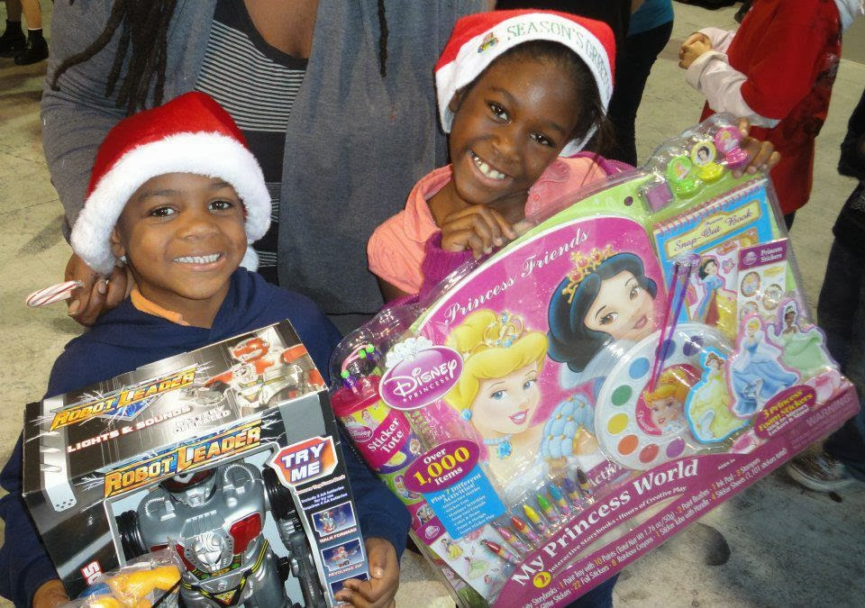 Black And White Toys For Tots : Children with a vision inc donate unwrapped toy to