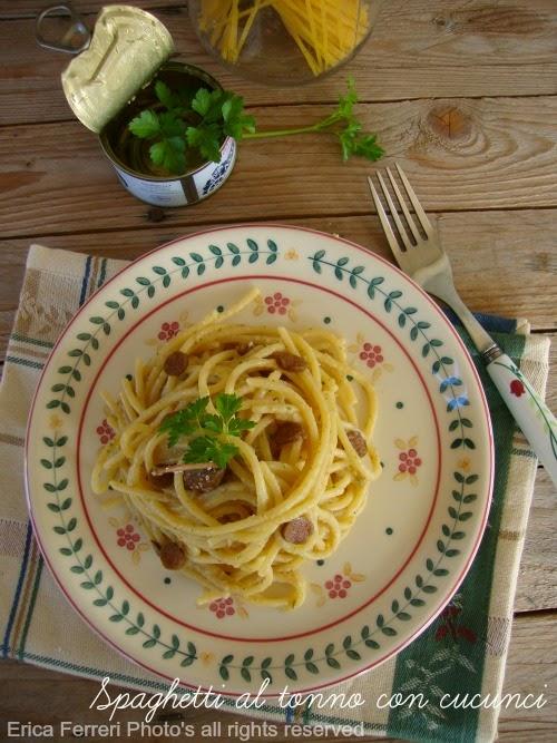 Spaghetti al tonno ricetta