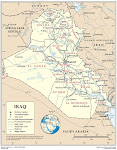 Iraq Provinces - Cities Map