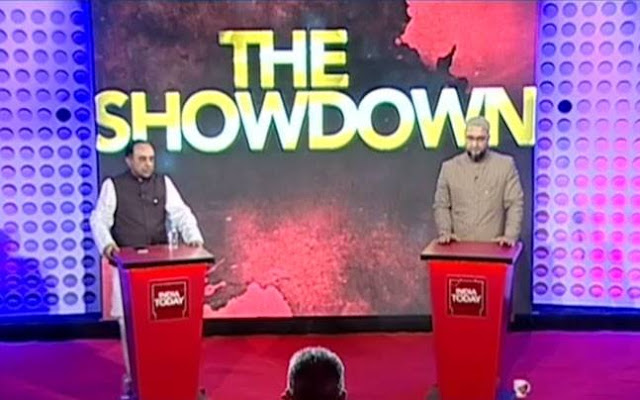 The India Today group pulled off a debating coup on Sunday when they brought together BJP leader Subramanian Swamy and AIMIM leader Asaduddin Owaisi to debate Ram Janambhoomi-Babri Masjid dispute.  Swamy's address on Ram Janambhoomi seminar at Delhi University last week had revived the controversy.