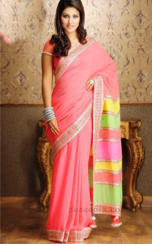 Hina-khan-pink-saree-lehenga-photos