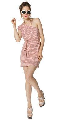 Polka Dot One Shoulder Dress