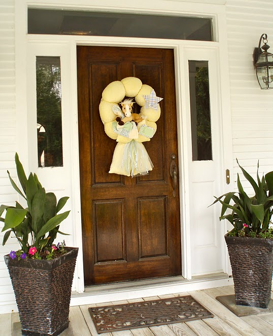 Baby Horse Wreath on Front Door