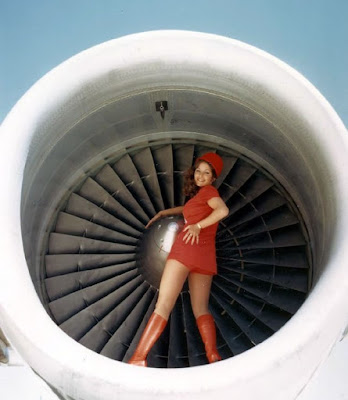 stewardess with a nice hat and an outrageous butt