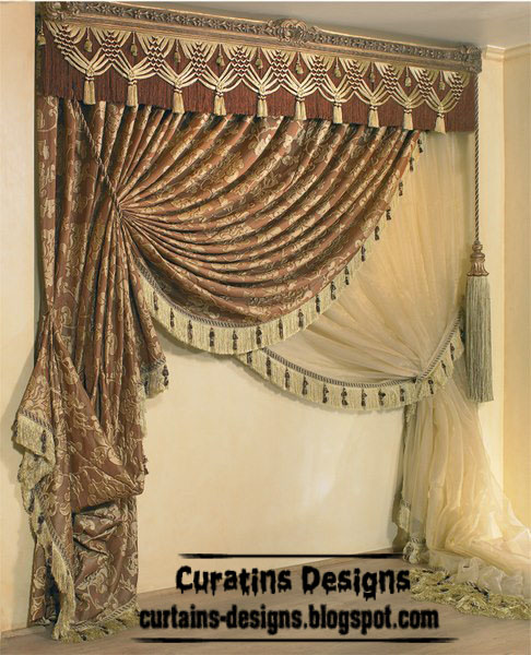 Contemporary brown curtain and windows treatment ideas for Contemporary drapes window treatments