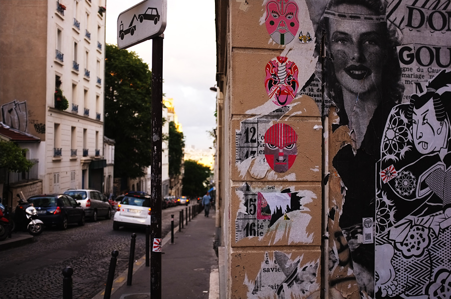 Paris street art graffiti. Photography by Tim Irving