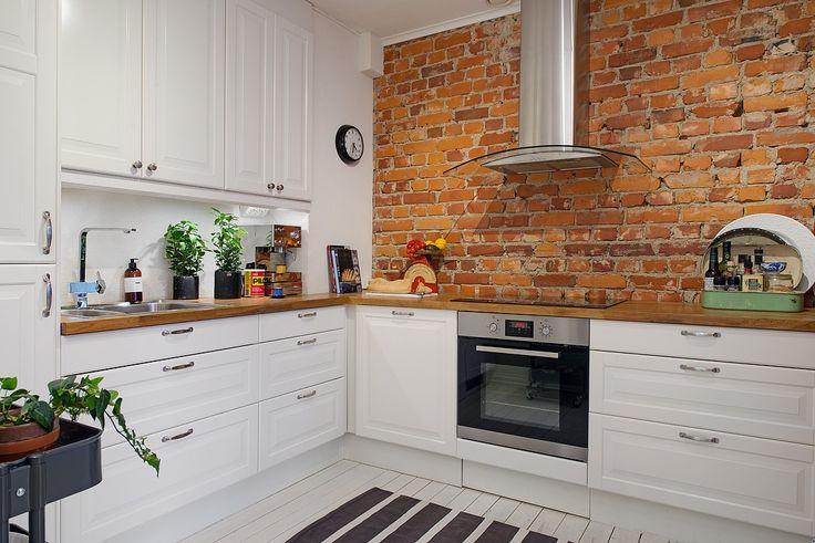50 Pomysłów Na Czerwona Cegłę W Waszej Kuchni Bajkowe Wnętrza